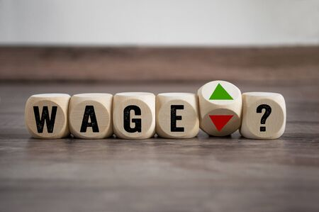 Cubes dice with a dare up and down