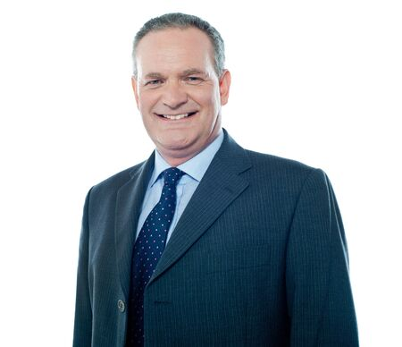 Smiling corporate person posing in front of camera, closeup shot Stock Photo - 13513040
