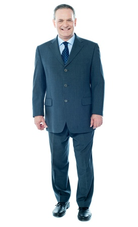 Full length view of senior corporate male posing in front of camera Stock Photo - 13511565