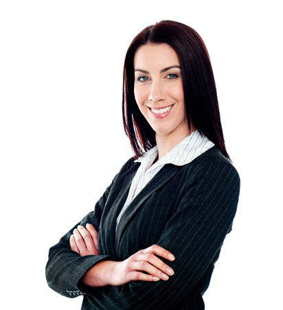 Happy confident businesswoman posing with crossed arms Stock Photo - 14050598