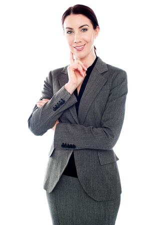 Gorgeous portrait of smiling successful business lady Stock Photo - 14043474