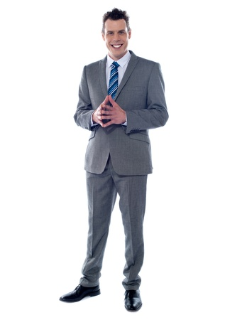 Portrait of an elegant young businessman isolated against white background Stock Photo - 14087686