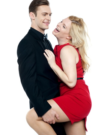 Lets make some love. Young caucasian couple having fun photo