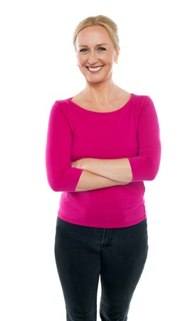 Confident woman dressed in casual wear standing with arms crossed Stock Photo - 14724481