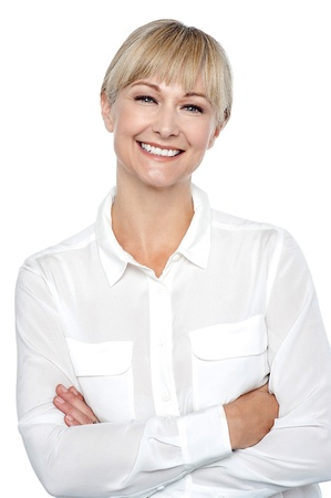 Half length portrait of a charming executive posing with arms crossed. Stock Photo - 17044618