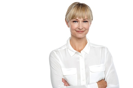 Confident business woman isolated over white background. Stock Photo - 17044272