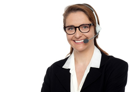 Pretty customer support executive to assist you. Stock Photo - 17643585