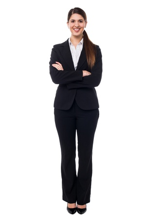 Full length portrait of a gorgeous young boss posing confidently. Stock Photo - 17988825