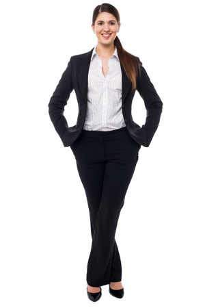Beautiful young woman in business attire, style portrait. Stock Photo - 17988830