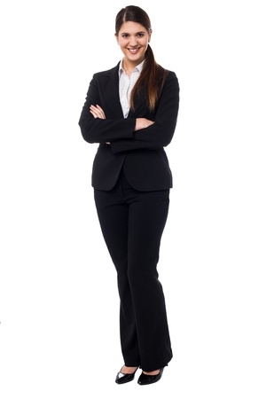 Stylish young business professional striking a pose. Stock Photo - 17988821