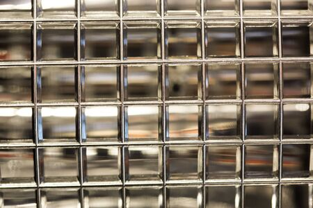 Pattern of seamless glass block wall photo