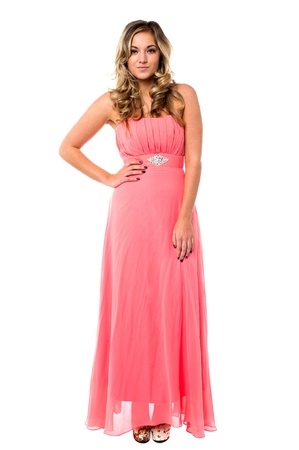 party wear: Gorgeous young female model dressed in party wear