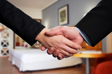 Photo of handshake of business partners photo