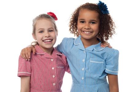 Cheerful young school girls photo