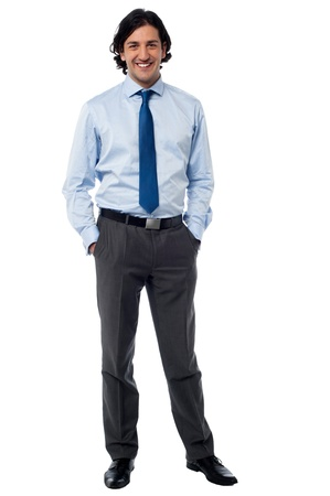 casual business: Confident young entrepreneur in formals