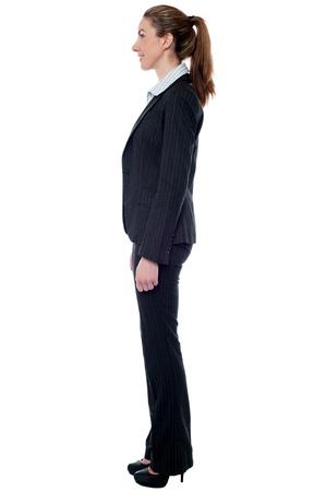 side pose: Patr�n femenino atractivo, lado plantean