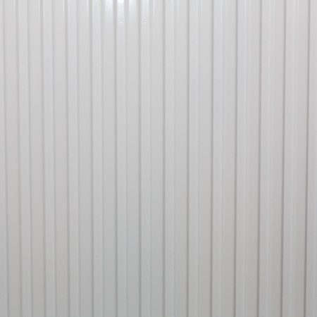 Corrugated metal fence photo