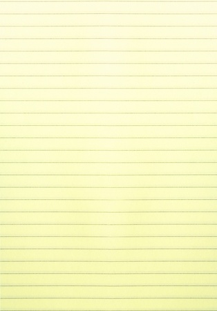 foglio a righe: Bianco giallo governato sfondo foglio di carta o texture Archivio Fotografico