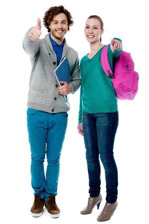Trendy university students posing together Stock Photo - 21363211