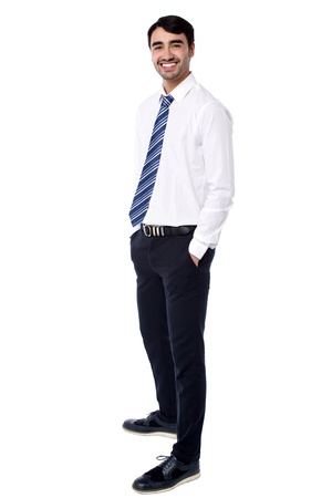 formals: Young businessman in formals over white background Stock Photo