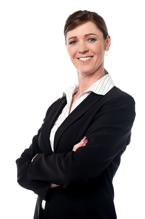 Corporate female manager posing confidently photo