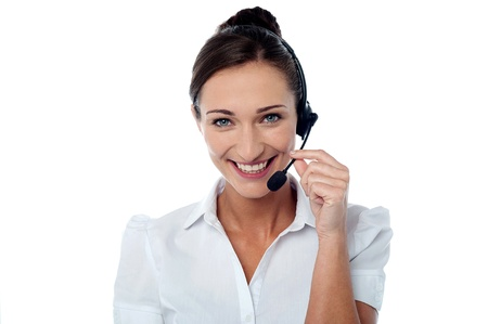 How can I help you? - Customer care executive Stock Photo - 21961349