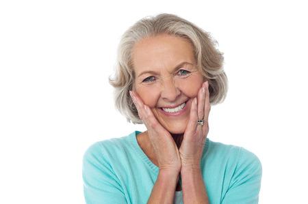 Portrait of a smiling beautiful senior lady