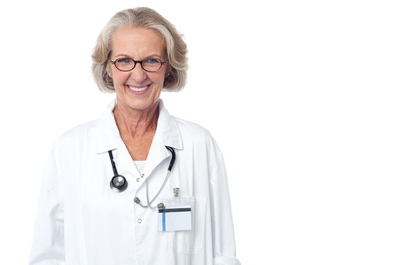 experienced: Experienced medical professional with stethoscope