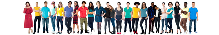 Collection of full length portrait of people in a collage photo
