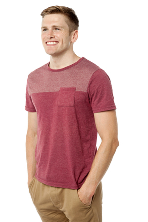 Handsome young man smiling and looking away Stock Photo - 22567164