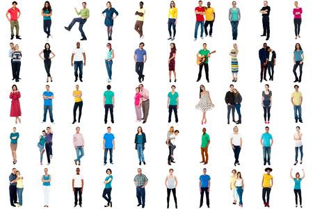 Set of trendy people isolated on white background Stock Photo