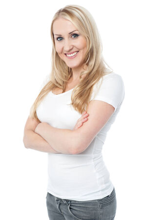 casuals: Beautiful smiling woman in casuals
