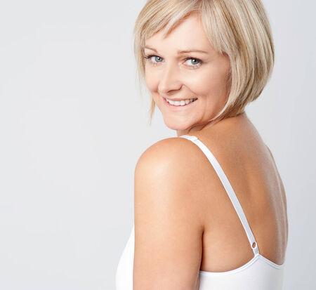 inner wear: Beautiful hot woman in lingerie Stock Photo