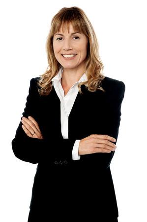 Female business executive isolated on white photo