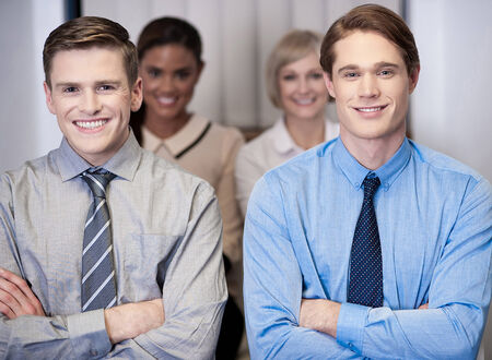 Group of smart and talented business people Stock Photo