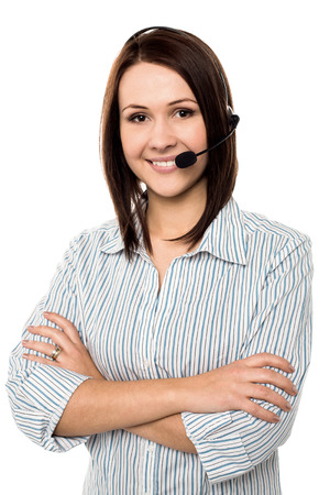 Cheerful customer support executive photo