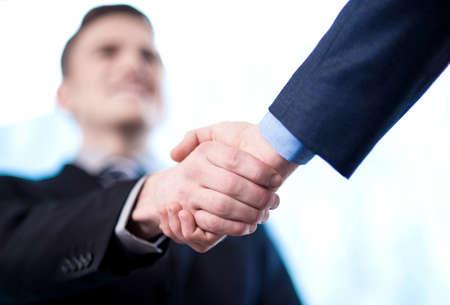 join hand: Business handshake among two corporates