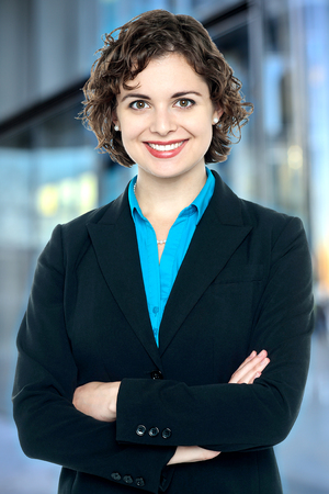 Female executive posing confidently
