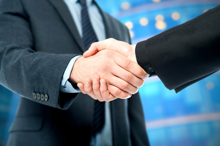 finalized: Business handshake, the deal Is finalized