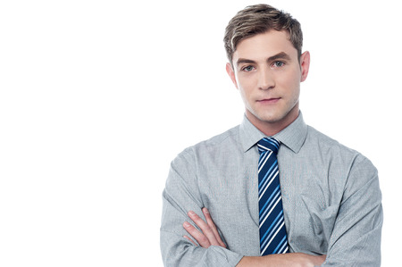 Confident businessman posing with crossed arms  Stock Photo