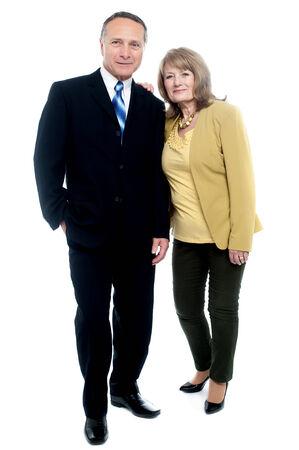 Happy senior couple posing together photo