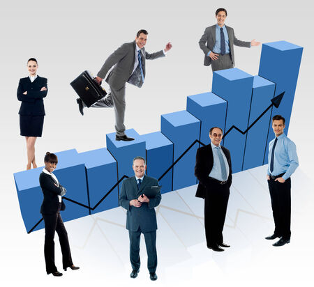 fluctuation: Business people, market fluctuation analyzed