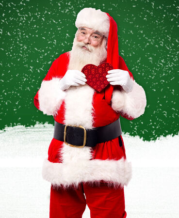 saint nick: Santa Claus sharing his lovable gifts to people around