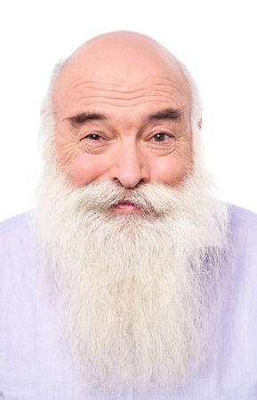 Old man looking at camera, lots of wrinkles. photo