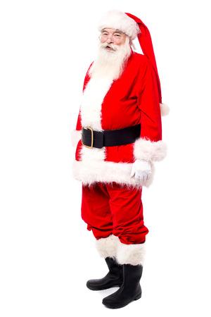 saint nick: Aged male in Santa attire