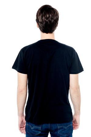 facing a wall: Back view of fashion man, facing the wall.