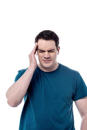 Worried middle aged man suffering from headache Stok Fotoğraf
