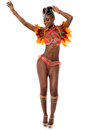 dancer: Full length of beautiful samba dancer
