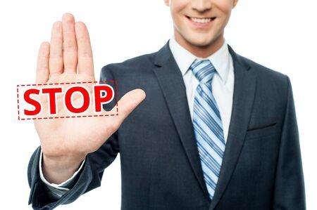refusing: Businessman refusing lucrative offer