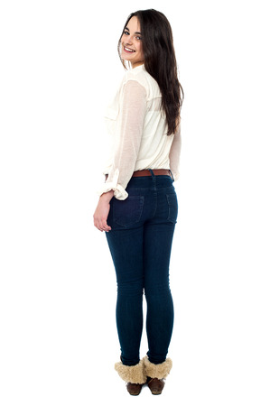 glamorous: Glamorous young girl looking sideways